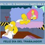 feliz dia del trabajador memes homero simpson